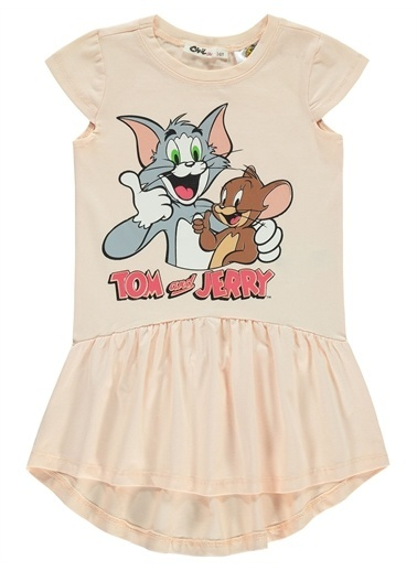 Tom And Jerry Power Puff Girls Kız Çocuk Elbise 2-5 Yaş Fuşya Power Puff Girls Kız Çocuk Elbise 2-5 Yaş Fuşya Somon